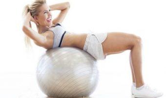 Exercícios com a bola suiça